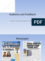Audience and Feedback