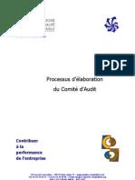 Processus d'elaboration du comité d'audit