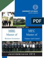 2011 MBE-MFC Prospectus