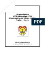 Program Kerja Kepala Program Studi