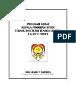 Program Kerja Kepala Program Studi