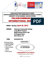 police community info session NH