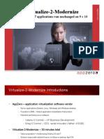 Virtualize2Modernize 3-10-11-1