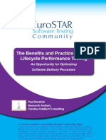 The Benefits and Practice of Early Lifecycle Performance Testing