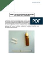 ENQUETE DE l'AFSSAPS SUR DES SOLUTIONS ET DES CARTOUCHES POUR CIGARETTES ELECTRONIQUES (juin 2011)