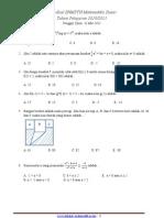 Soal SNMPTN Matematika Dasar 2011
