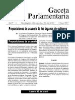 Proposiciones de Acuerdo de los Órganos de Gobierno en la Desclasificación del Expediente de LyFC