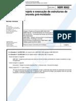 NBR 9062 - Proj. e Exe. de Estrut. de Conc. Pr-moldado