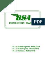 Bsa d14 Instructions Manual Eng