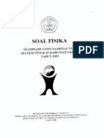 Soal Osn Fisika Kab 2009