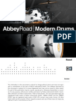Abbey Road Modern Drums Manual English
