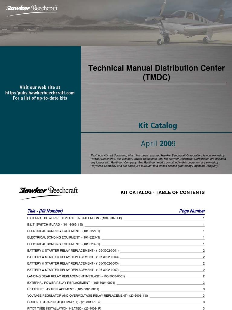 Beech Kit Catalog April 2009 | Landing Gear | Rudder