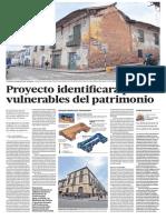 Proyecto identifica zonas vulnerables del patrimonio en Cusco