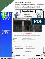 Rapport de Stage Imade El Khadim ISTA NTIC Beni Mellal