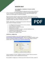 MySQL Administrator - MANUAL