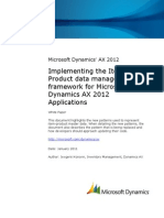 Implementing Item-Product Data Management Framework for Microsoft Dynamics AX 2012 Applications AX2012