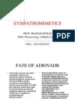 Sympathomimetics By Prof Dr Shah Murad