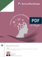 IPE Profile Booklet