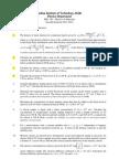 Tutorial Sheet 5 2011 2012