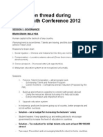 SEAL 2012 - Report on Discussions Content