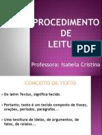 1. Procedimento de Leitura