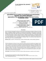 Revision Sistematica . Aplicabilidad Modelos de Periodizacion Entrenamiento