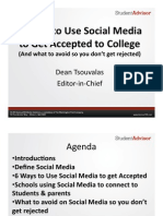 6 Ways to Use Social Media  to Get Accepted to College