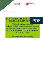 La Certificazione Energetic A Piemonte Faq 2010-10-07