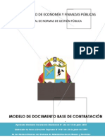 MODELO DE DOCUMENTO BASE DE CONTRATACIÓN A