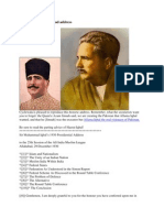 Allama Iqbal's Allahabad Address