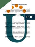 DESCRIPCIÓN DE LA ESTRUCTURA ORGANIZACIONAL