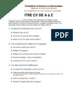 Votre CV da A à Z