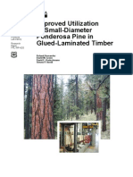 Improved Utilization of Small-Diameter Ponderosa Pine in Glued-Laminated Timber