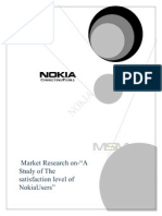 52952623 Market Research on Nokia