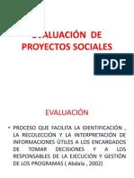 EVALUACIÓ de proyectos. 1
