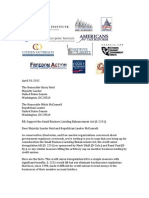 Coalition Letter on Small Business Lending Enhancement Act