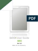 Onyx Boox m90 Manual