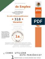 Ofertas de Empleo Primera Quincena de Mayo