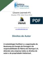 Energia de Portugal - Lessons Bootcamp nº1
