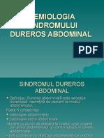 Semiologia Sindromului Dureros Abdominal Curs 3