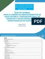 Guía de normas de diseño de agua potable volumen I  ag 2011 FINAL