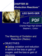 Chapter 20 Oxidation-Reduction Reactions