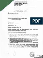 Eksepsi, Jawaban & Rekonvensi TERGUGAT I,II,III & v Atas Gugatan PMH Terkait Tender Di Dinas PU Kab. Minahasa Utara APBD 2011