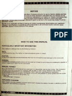RX 100 Workshop Manual