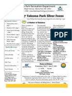 Silver Foxes Newsletter - May 2012 from the Takoma Park Recreation Department