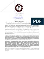 4/27/2012 FP Media Release Right to Water and Housing