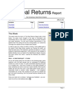 The Real Returns Report, Apr 30 2012
