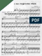 Edith Piaf Non Je Ne Regrette Rien Piano Guitar