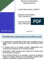 Resumen Indicadores Socioeconomicos Venezuela 2011