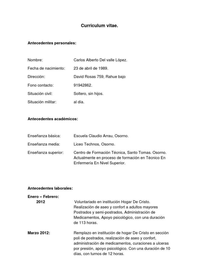 Increíble Enfermería, Ejemplos Curriculum Vitae Embellecimiento ...